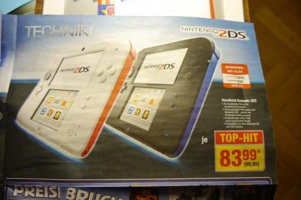 Metro - Nintendo 2DS Konsole Weiß/Rot, Blau/Schwarz 99,95€ - ab 02.01.14