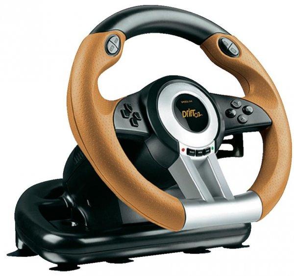 Lenkrad mit Pedalen Speed-Link DRIFT O.Z. Racing Wheel USB PC Schwarz, Orange für 36,00 €