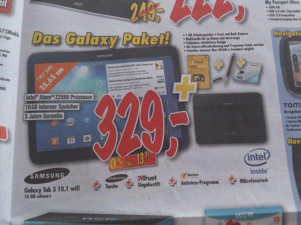 [lokal] Das Galaxy Paket. Galaxy Tab 3 10.1 WiFi 16 gb schwarz mit gratis Zubehör