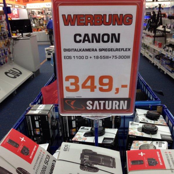 (Lokal Hamm) Canon 1100D inkl 18-55 III und 75-300 III für 349,- Euro im Saturn