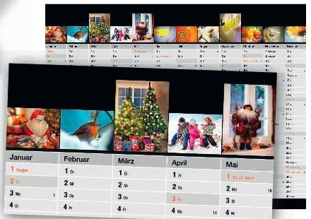 Din A3 Jahreskalender mit 12 eigenen Fotos kostenlos @ Globus [Bundesweit]