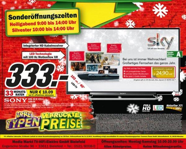 Sony KDL-40R470A 333€ Lokal [Mediamarkt Bielefeld]