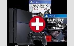 PS4 Konsole + AC Blag Flag + COD : Ghost =519 + Versandkosten