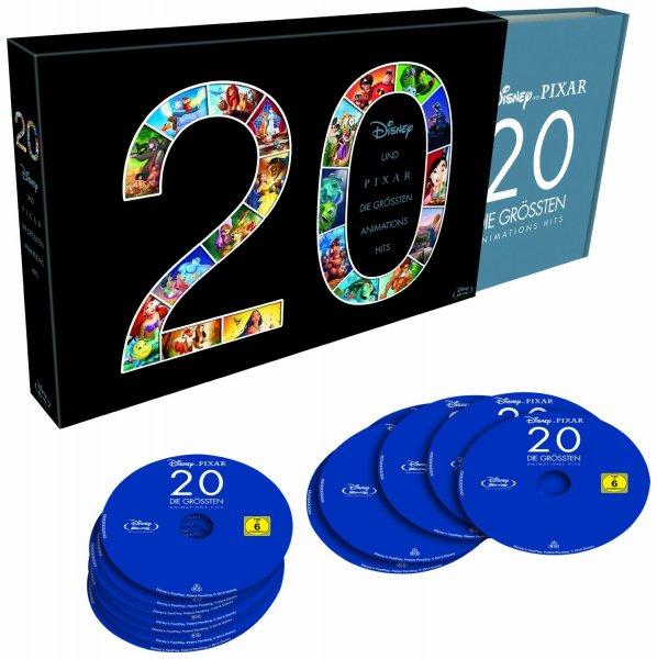 [amazon.de] 20 - Disney und Pixar - Die größten Animations Hits [Blu-ray] [Limited Edition]