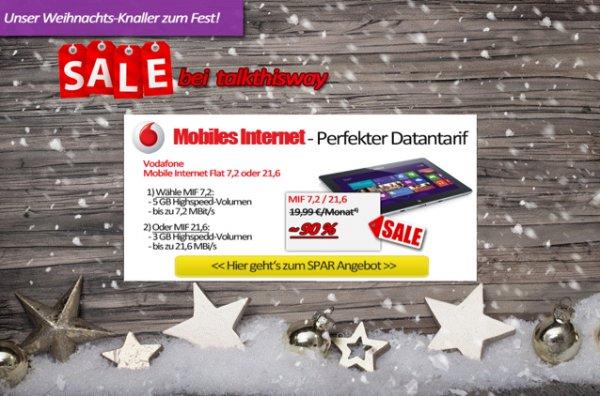 [Talkthisway] 48€ für 24 Monate UMTS Flat 3GB für Bestandskunden