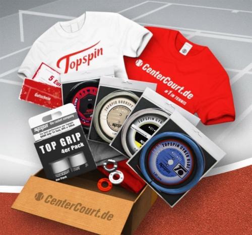 Topspin Tennis Package bei CenterCourt.de