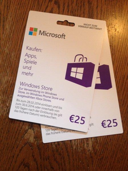 NEUER PREIS: 28 % Rabatt Microsoft Gift Cards 50€ für 35,99€ bei EBAY
