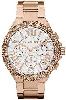 Michael Kors Damen-Armbanduhr XL Chronograph  Edelstahl MK5636