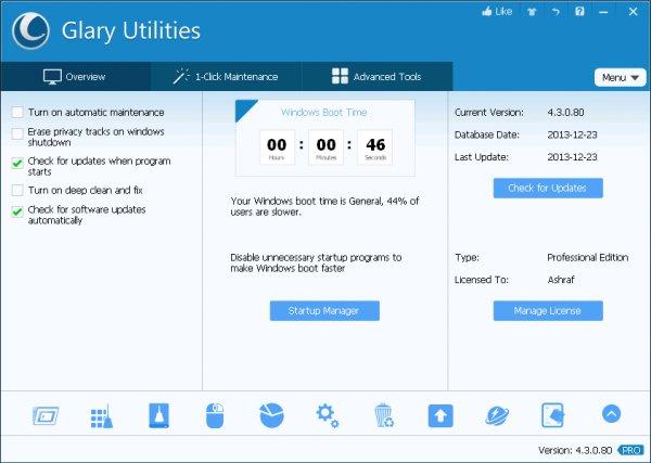 Glary Utilities Pro (100% discount)