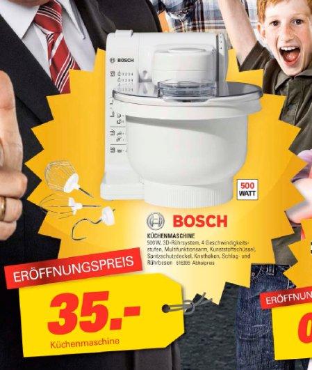 [lokal] Bosch MUM4405 Küchenmaschine bei Möbel Höffner in Fürth für 35,- EUR