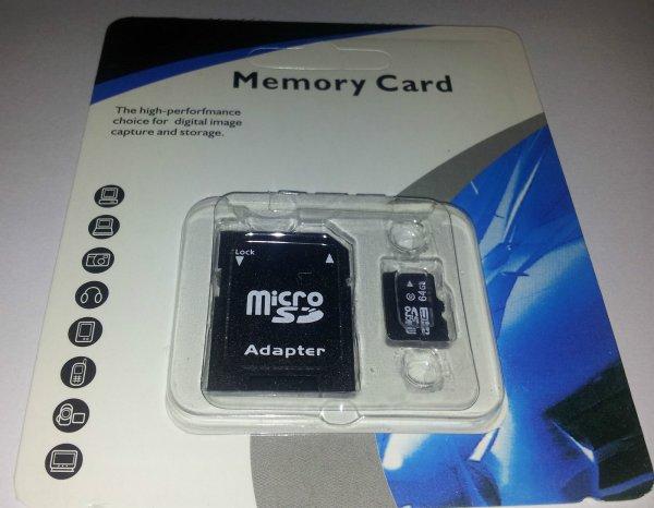 Neu 64GB Micro SD Card Karte [Aus UK - Ebay]
