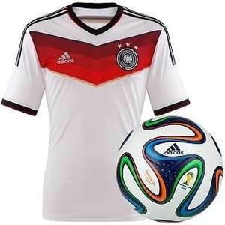 DFB Original Deutschland AdidasTrikot Home WM 2014 - 176 + Brazuca Miniball