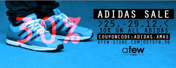 30% auf Adidas im afew-store, z.B LA Trainer für 38,47€