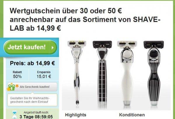 30€ Shave Lab Gutschein für 14,99 € bei Groupon