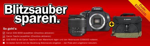 Canon EOS 600D im 18-55 mm Kit + kostenloser Tasche