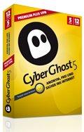 CyberGhost VPN - 12 Monate; 5 PC's - nur 24,12€ statt 79,99€