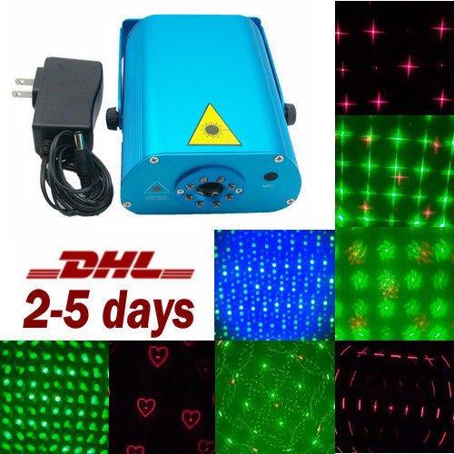 16 Pattern Muster Laserlicht mit 8 Led Laser lighting DJ Disco Bar Beleuchtung