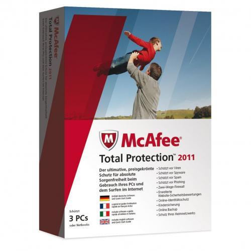 McAfee Total Protection 2011 - 3 User Mc Afee Neu & OVP