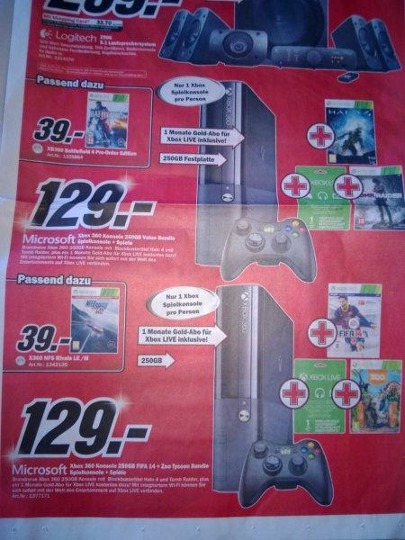 [MM - Schweiz - Kriens/Luzern - Offline] XBOX 360 - 250GB plus 2 Spiele für 105 Euro!