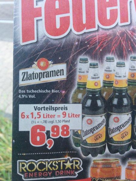 6 mal 1,5 l flasche  Zlatopramen Das  Tschechische Bier