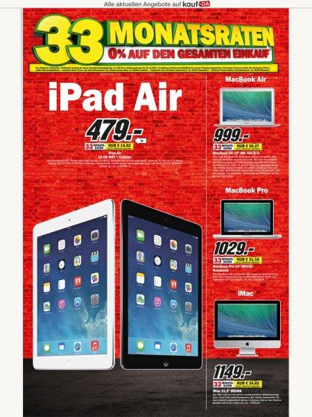 [lokal MediaMarkt Essen] iPad Air 16GB WiFi&Cel 479€