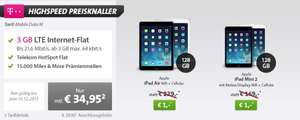 Apple iPad Air 128GB LTE + 3GB Telekom UMTS-Flat + 15.000 Meilen für 869€ @Sparhandy