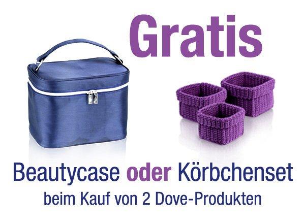 Gratis @ Dove: Beim Kauf von 2 Dove-Produkten Ihrer Wahl können Sie zwischen 2 Gratis-Zugabeartikeln wählen