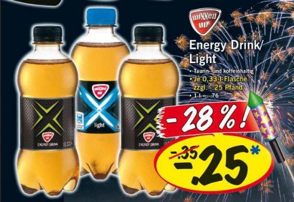 Erinnerung - LIDL Mixxed up Energy Drink für 0,25€ - 28% [Bundesweit/ Super-Samstag 28. Dezember]