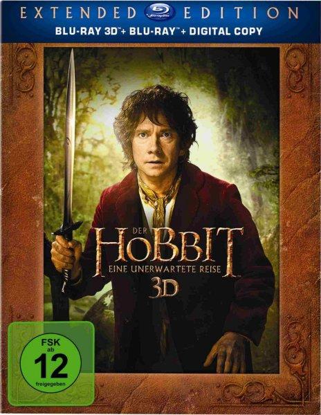 [amazon.de] Der Hobbit: Eine unerwartete Reise - Extended Edition [Blu-ray 3D + Blu-ray + Digital Copy]
