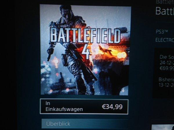 Battlefield 4, Fifa 14 und vieles mehr für 34,99€ PSN Store