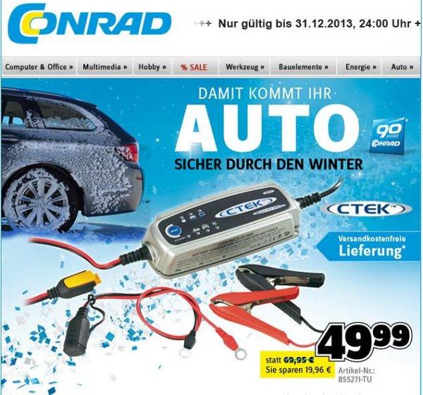Conrad: CTEK Automatik-Ladegerät MXS 3.6 von € 69,99 auf € 49,99 reduziert, kombinierbar mit Gutschein-Codes