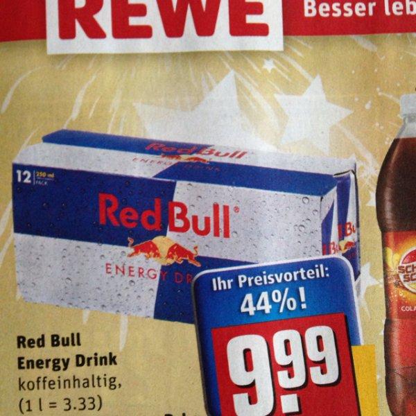 Red Bull 250ml Dose für 83 Cent / bzw. 79 Cent! bei Rewe / kommende Woche!