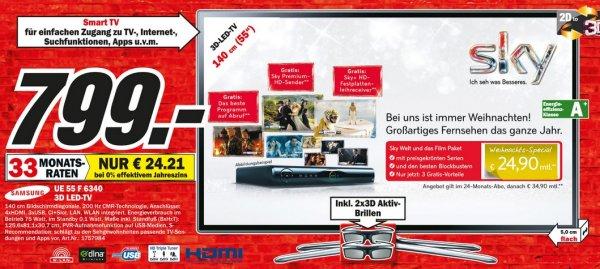 Samsung UE55F6340 799€ Lokal [Mediamarkt Potsdam]