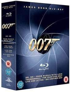 [Amazon.uk] James Bond Blu-ray Collection inkl. Vsk für 22 €