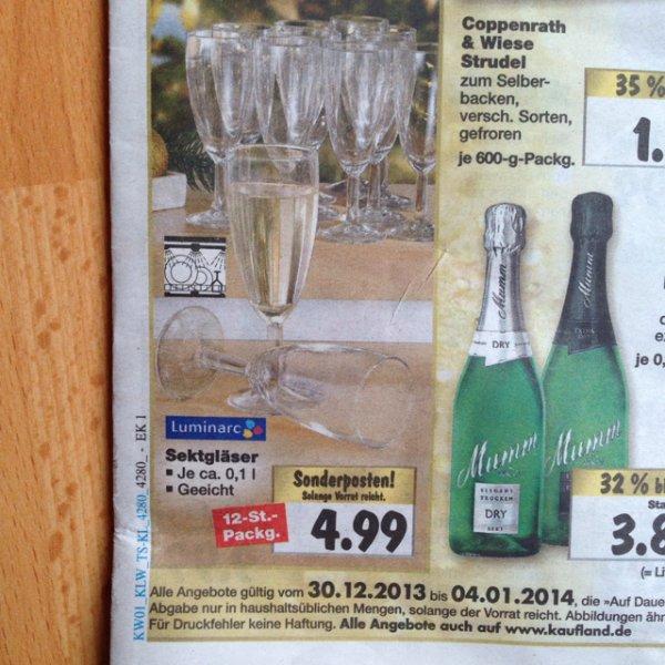 12 Sektgläser im Kaufland deutschlandweit für 4,99€