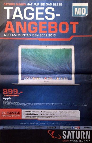 "[lokal Saturn Siegen] Apple Macbook Air 13"" MD760D/A (Mid 2013) 899€"
