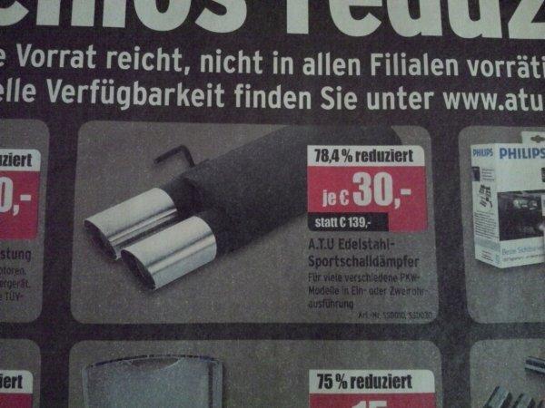 ATU Endschalldämpfer für 30€