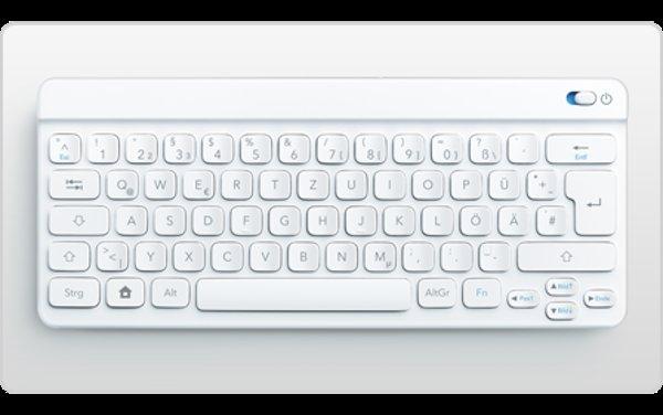 Handliche BT-Tastatur (QWERTZ mit Umlauten und Windows-Taste) ab 14,90€