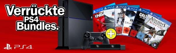 Media Markt – PS4 Bundles sofort verfügbar 2 Spiele PS4 = 519 EUR