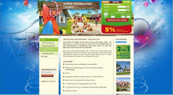 """Super-Frühbucher """"2für1"""" Heidepark Soltau Angebot Beispiel 31.05.14-02.06.14"""
