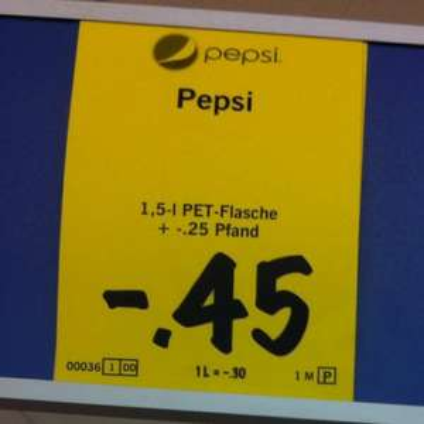 1,5l Pepsi für 45ct bei Lidl (lokal- Hohen Neuendorf)