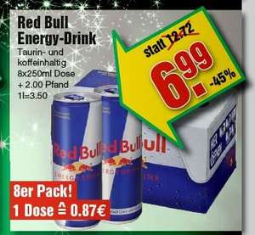 8er-Tray Red Bull für 6,99 bei Marktkauf