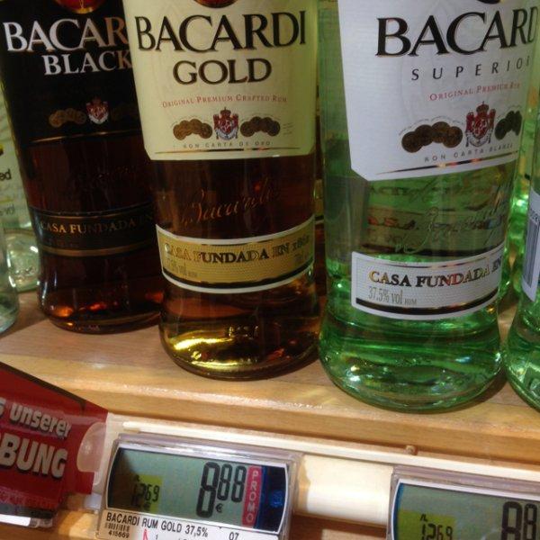 eCenter Silvesterbölkstoff: Bacardi (superior, oakheart, black, gold) 8,88€