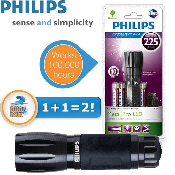 2 x Philips SFL4600 Outdoor Taschenlampe für 25,90