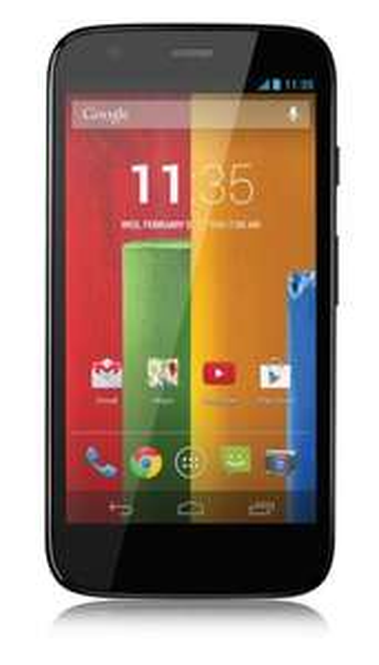 Motorola G 8GB + O2 Blue Basic ( incl. O2 Mobilflat-50min-200SMS-200MB )  @logitel