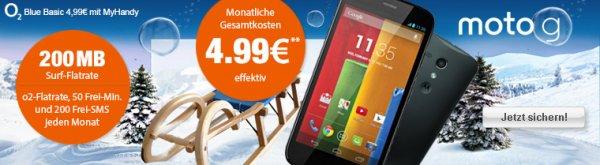 Motorola Moto G - 8GB mit O2 Blue Basic für 1 Euro