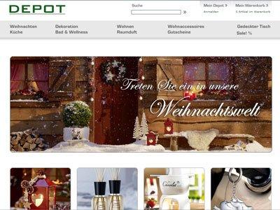 Depot Online 50% auf Weihnachtsartikel JETZT AUCH 70%