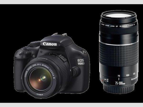 Canon EOS 1100 D + 18-55mm + 75-300mm Objektiv  bei Saturn online und auch abholen im Markt
