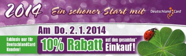 [Berlin] E-Reichelt 10% auf gesamten Einkauf * nur am 2.1.2014 mit DeutschlandCard