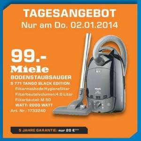Miele S 771 Tango für 99€ Lokal Tagesangebot [Saturn Witten,Hattingen]